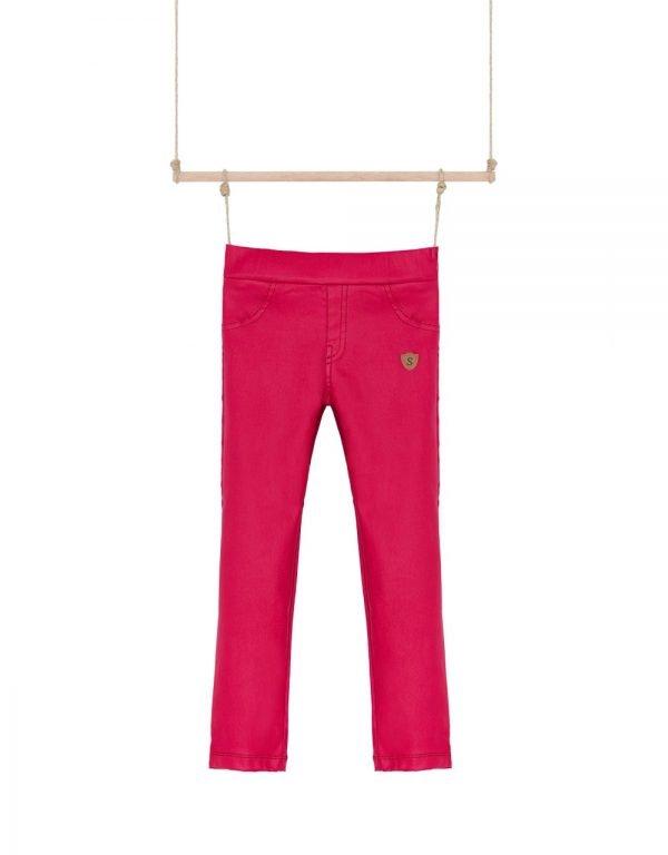 červené nohavice dievčenské