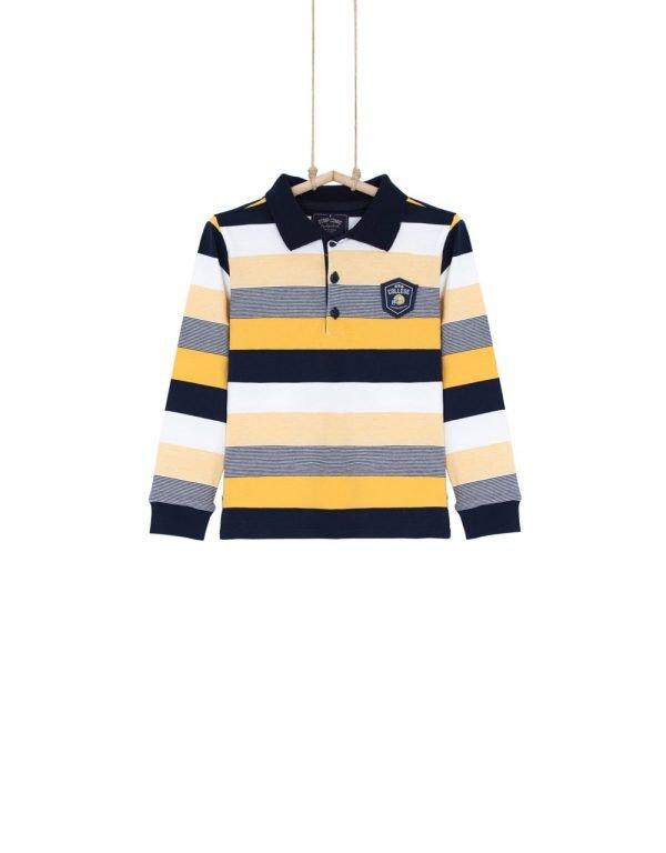 Chlapčenské bavlnené tričko Pollo College žlté
