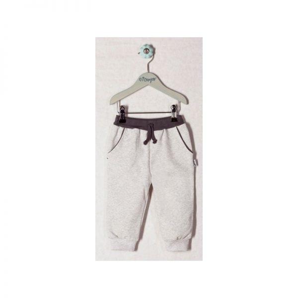 Tepláčky/nohavice Nicol LÍŠKA sivé s tmavošedým pásom
