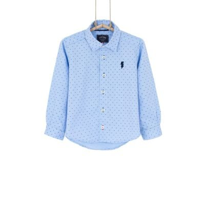 Chlapčenská košeľa Bebakids TOMI bavlnena modra