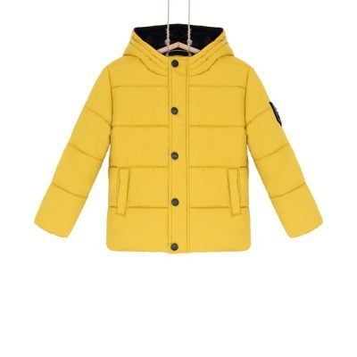 chlapcenska bunda zimna zlta horcicova bebakids
