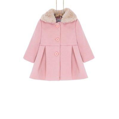 Dievčenský kabátik zimný ružový BEBAKIDS