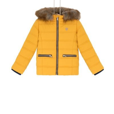 zimná bunda horcicova detska Bebakids Zuli