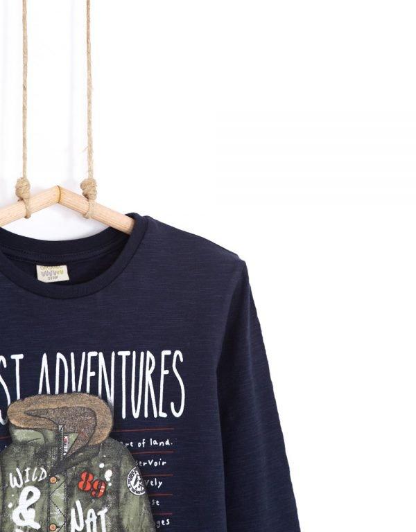 bio tričko s dlhým rukávom chlapčenské bebakids forest