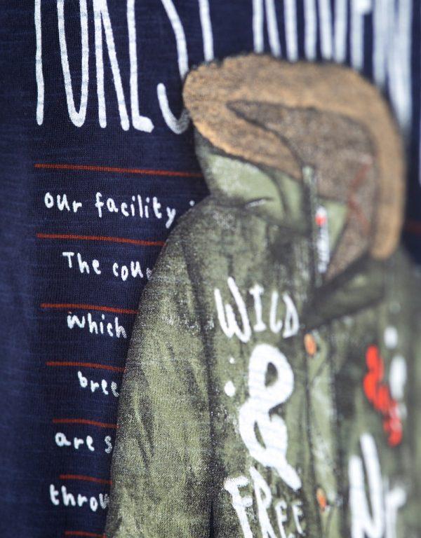chlapčenské tričko biobavlna bebakids forest