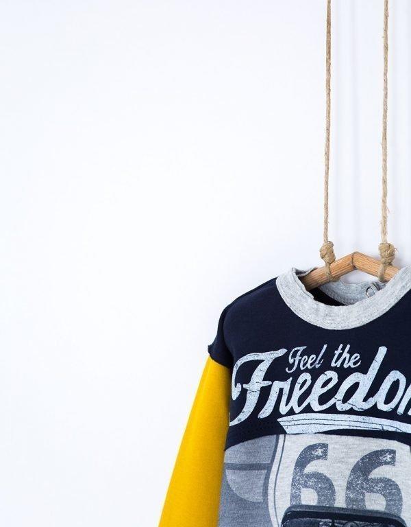 chlapcenske tricko zlte bebakids freedom