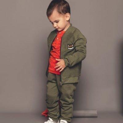 vojenska mikina chlapcenska bebakids