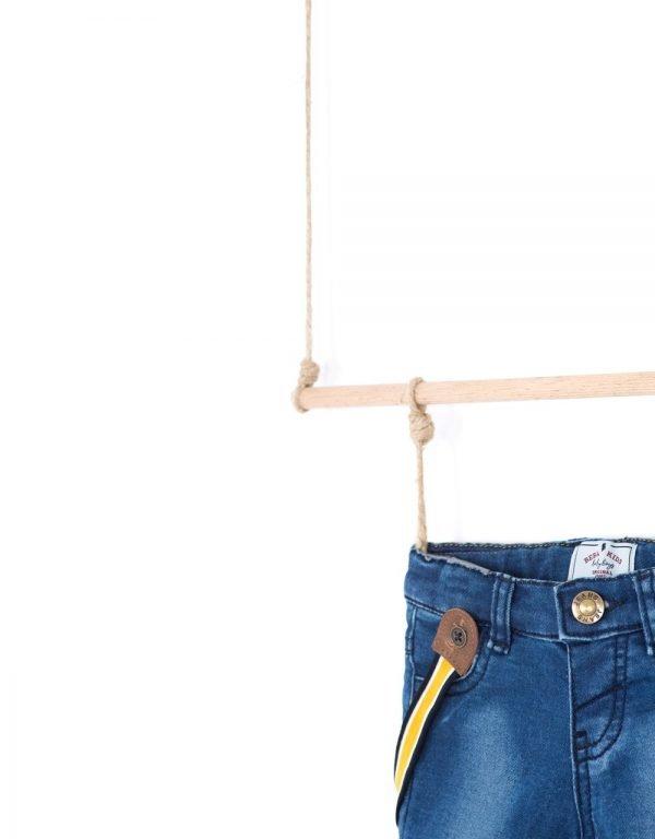 rifľové nohavice na traky  chlapcenske Bebakids