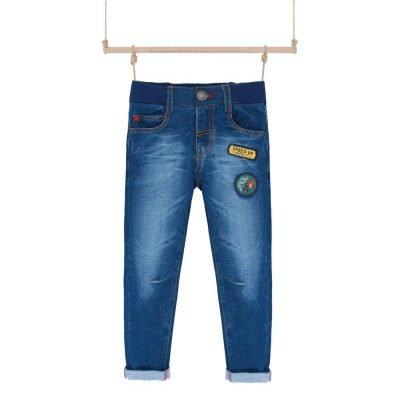 Rifľové nohavice na gumu Bebakids