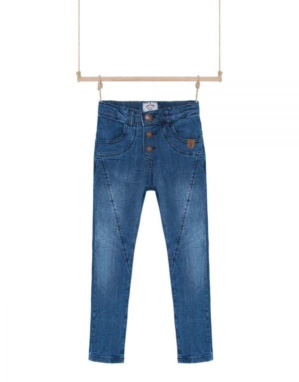 Rifľové nohavice na gumu chlapčenské Lumberjack Bebakids