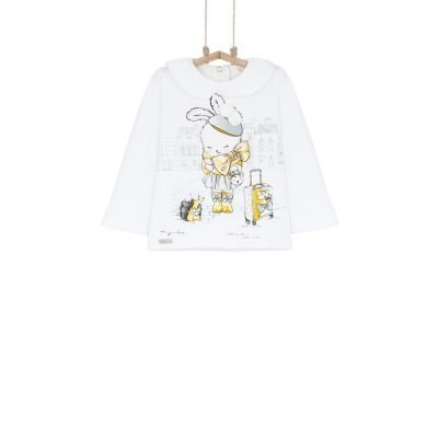 Dievčenské tričko s brmbolcami Bebakids
