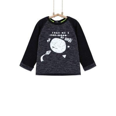 Sivé chlapčenské tričko Bebakids Moon