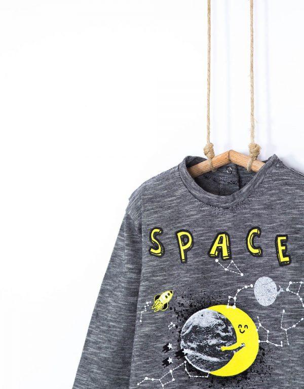 sive chlapcenske tricko space bebakids 86, 92, 98
