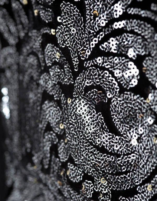 dievčenské šaty čierne s flitrami Bebakids