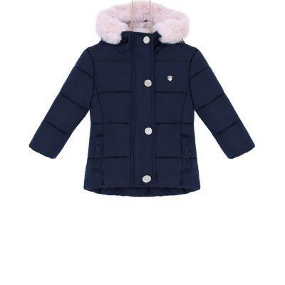 dievcenska zimna bunda s kapucnou 92, 98 bebakids