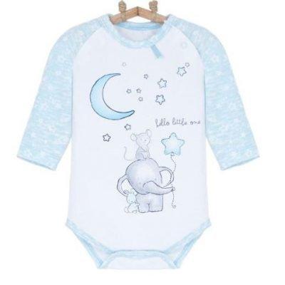 dojcenske body slonik bebakids modre