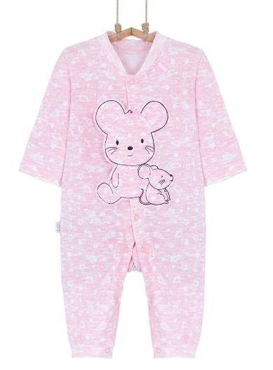 Dojčenský overal ružová myška, veľ. 74, 80 Bebakids