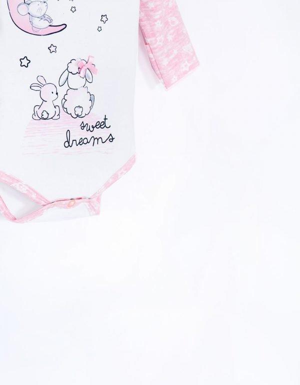 Dojčenské body ružové  veľ. 56 - 80 Bebakids