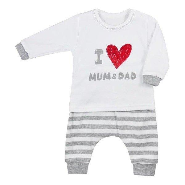 Dojčenské tepláčky a tričko Koala Mum and Dad súprava pre babatko mama tato