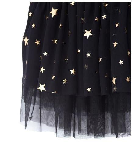 vianočná sukňa s hviezdičkami 98 čierna