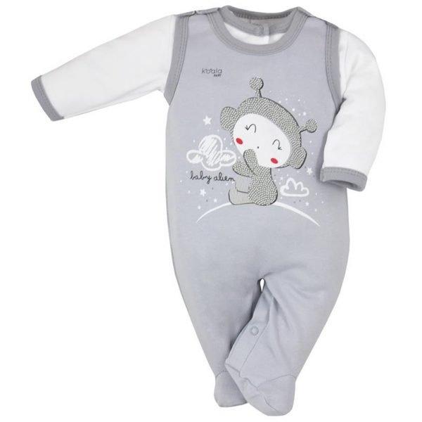 2-dielna dojčenská súprava Koala Clouds sivá