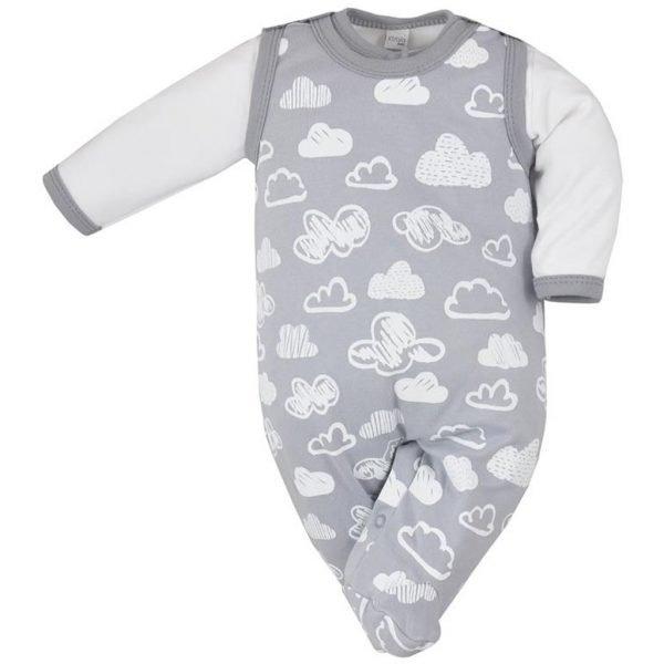 dojčenská súprava Koala Clouds sivá