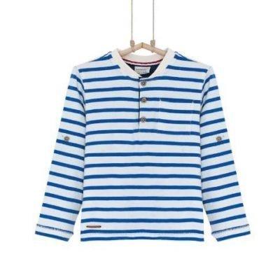 Pásikavé tričko Bebakids námornícky