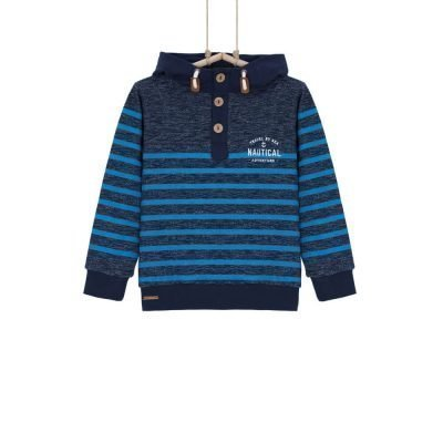 Modrý chlapčenský sveter s kapucnou Bebakids