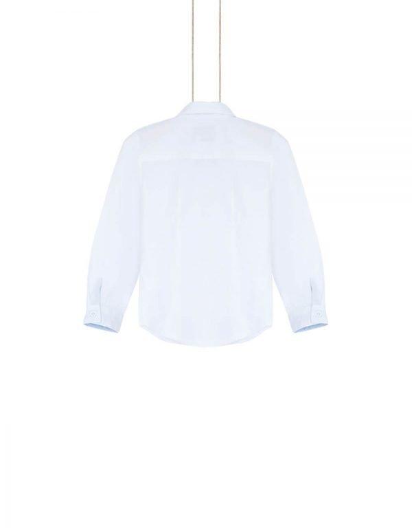 Biela bavlnená košeľa chlapčenská