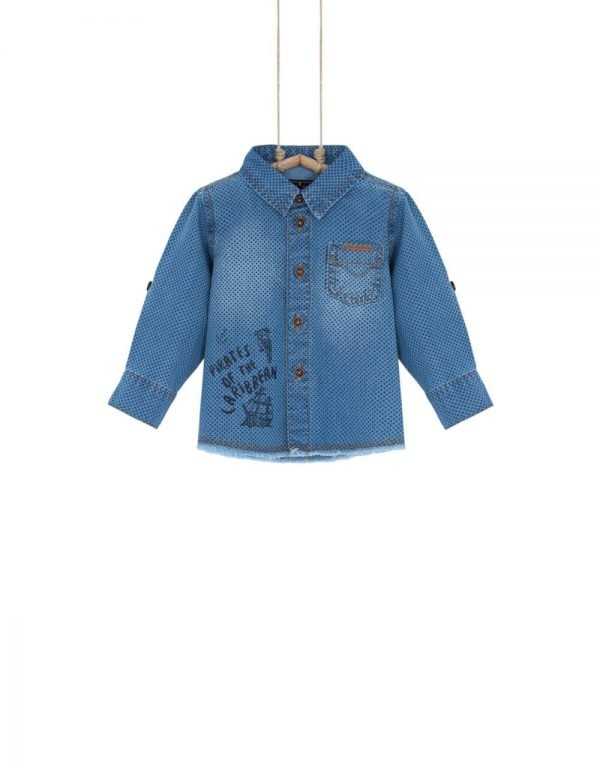 Chlapčenská denimová košeľa Denim Bebakids