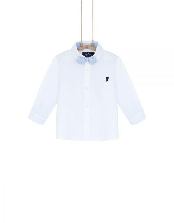 chlapčenská biela košeľa s motýlikom spoločenská