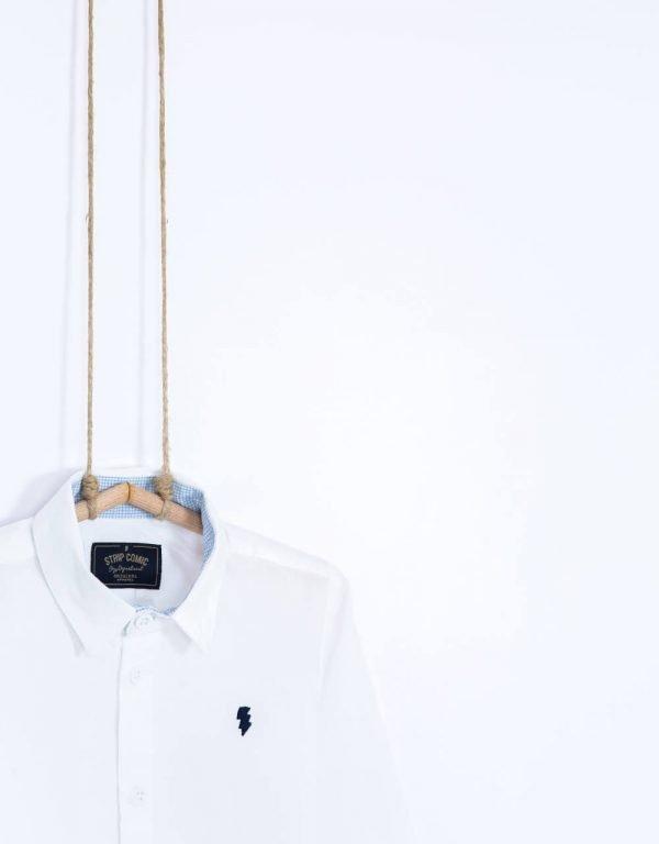 Biela košeľa chlapčenská Bebakids biobavlna