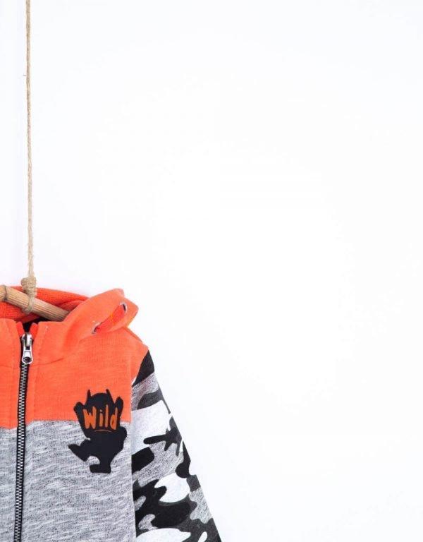 chlapcenska mikina na zips bavlnena