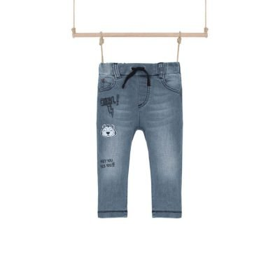 Chlapčenské rifľové nohavice na gumu