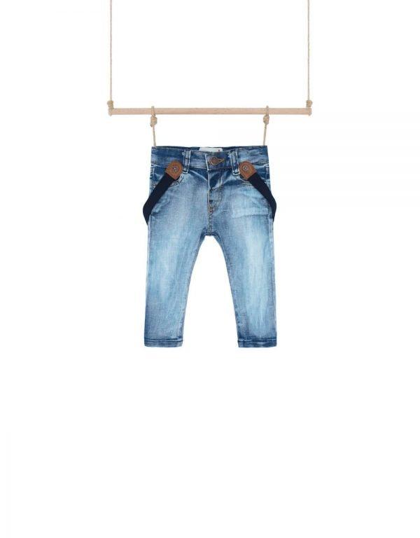 Chlapčenské rifľové nohavice na traky  Bebakids