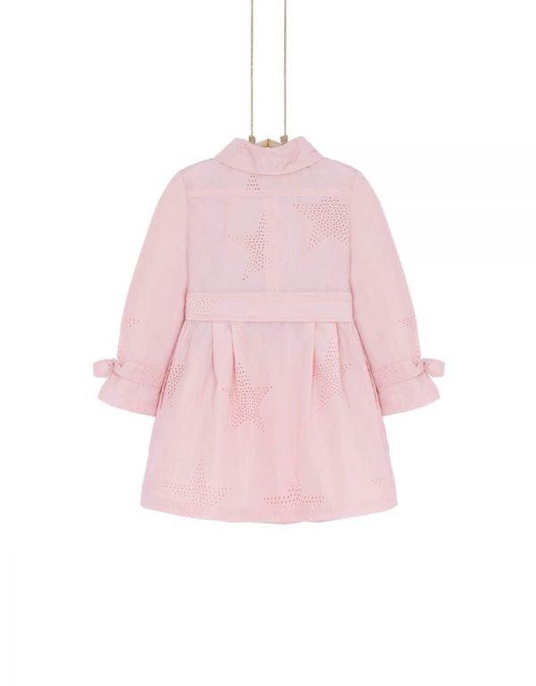 Dievčenský trenčkot ružový Bebakids