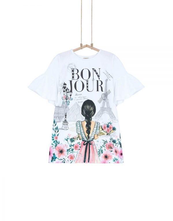 Dievčenské šaty z BIO bavlny PARIS