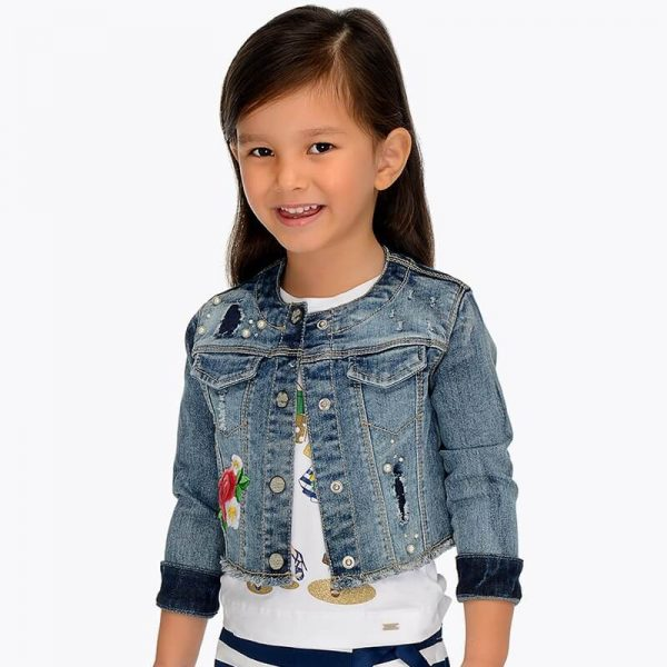 Dievčenská bunda rifľová MAYORAL