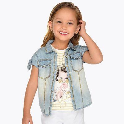 Dievčenská košeľa rifľová MAYORAL