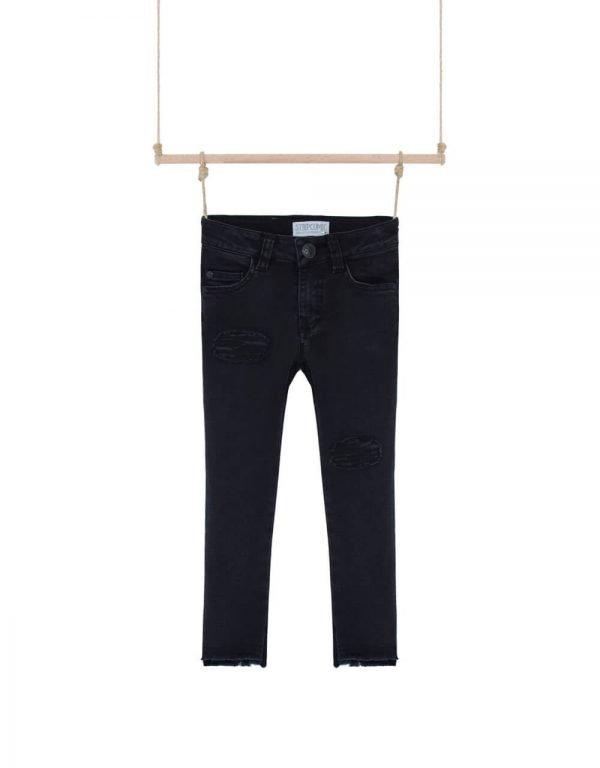 Čierne rifľové nohavice dievčenské