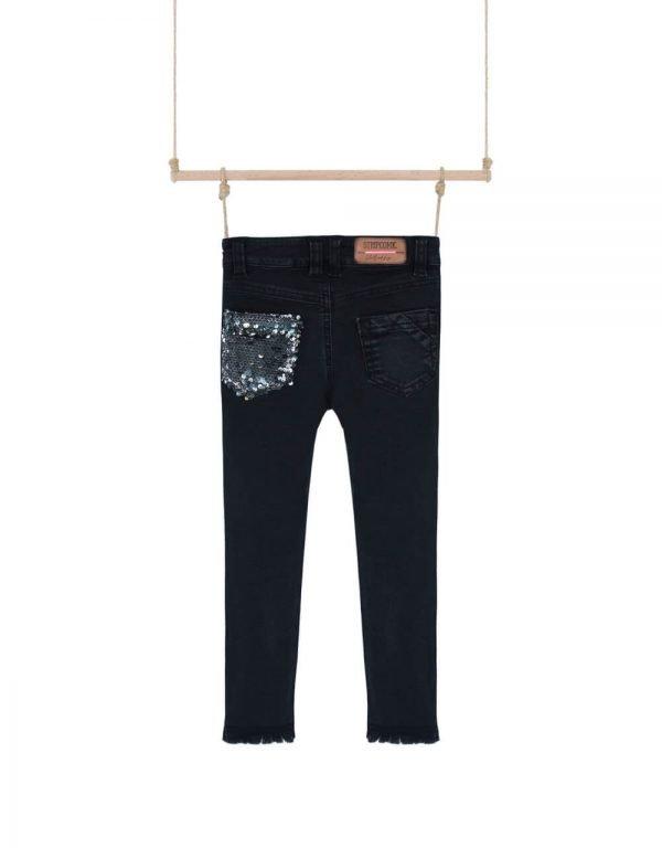 dievčenské rifľové nohavice čierne Bebakids