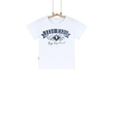 detské tričko s krátkym chlapčenské biele Bebakids 86