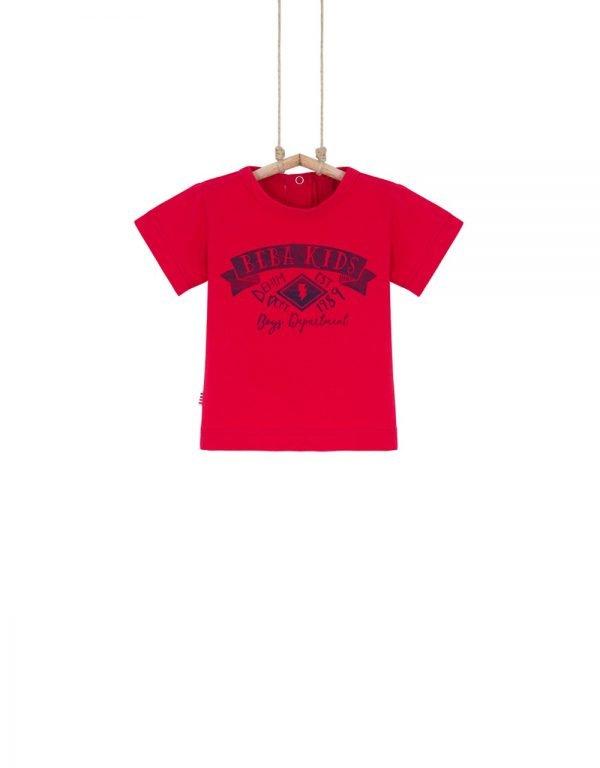 Chlapčenské tričko červené BASIC Bebakids 92 98
