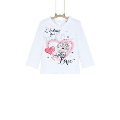 dievčenské tričko s dlhým rukávom 80 86