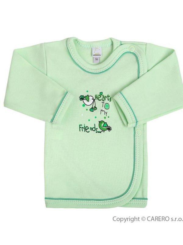 Dojčenská košieľka Bobas Fashion Benjamin zelená, 56