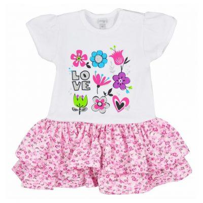 Kojenecké letné šatičky Koala Rozalia Summer ružové 74 86