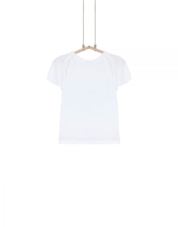 dievčenské tričko krémové