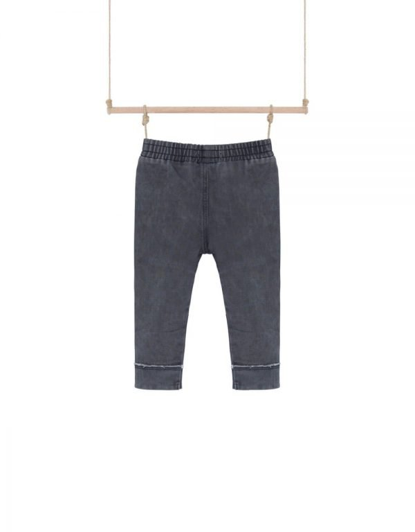 detské nohavice sivé