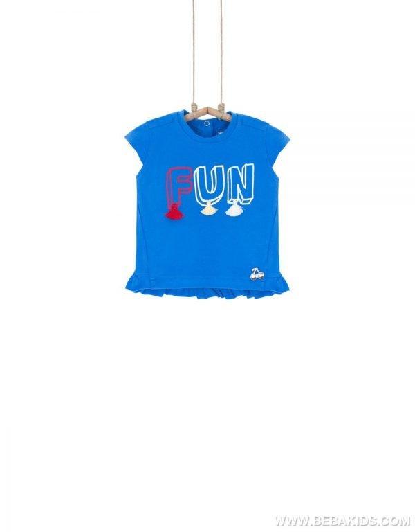 dievčenské tričko modré