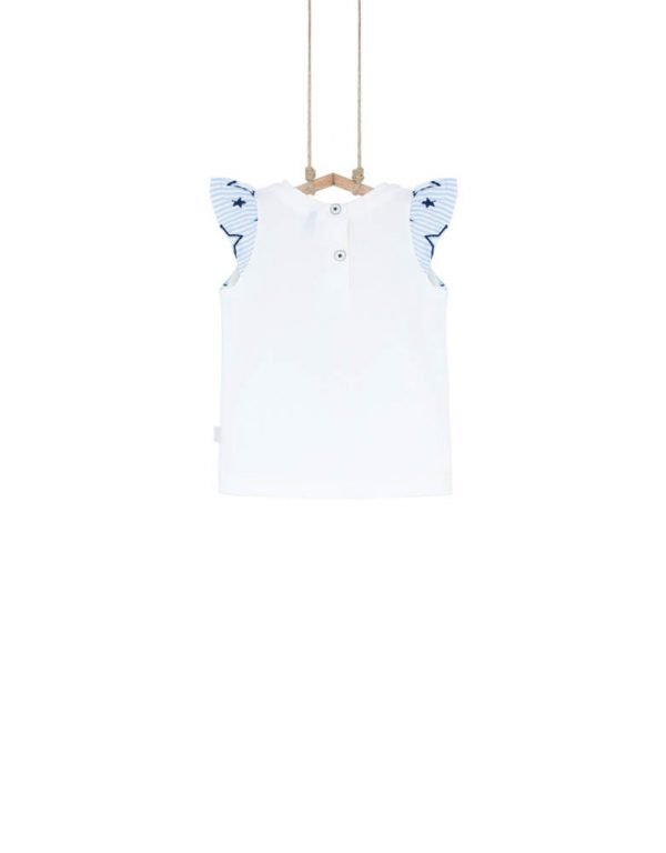 biele detské tričko 92 98